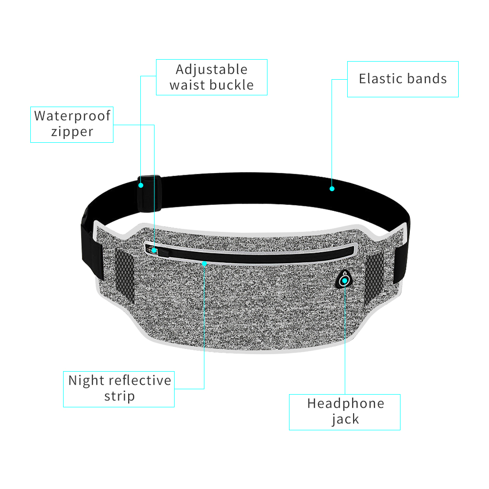 Running Belt Waist Pouch Sport Belt Mobile Phone Men Women With Hidden Pouch Jogging Running Bags Gym Waist Pack Accessories