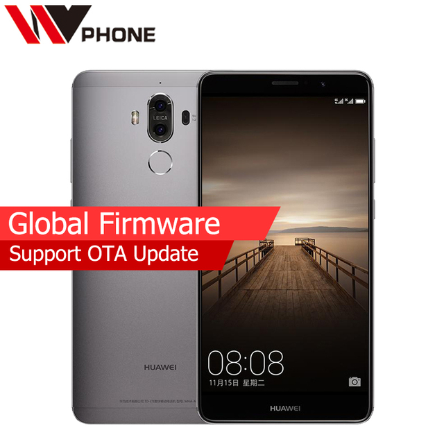 "WV Original Huawei Mate 9 4G LTE Mobile Phone Octa Core 4GB RAM 32GB ROM 5.9"" HD Android 7.0 Fingerprint ID SmartPhone"