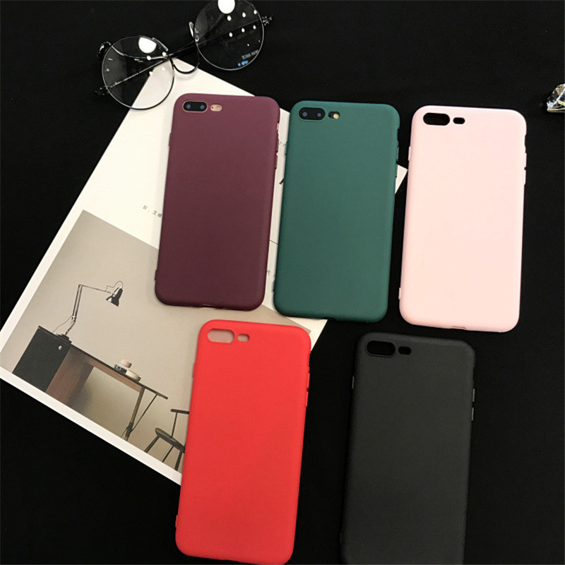 Candy Color Shockproof Soft TPU Silicone Phone Case Cover Fundas Coque For iPhone X 6 S 7 7 Plus 6S 6 Plus 8 8 Plus X Matte Case