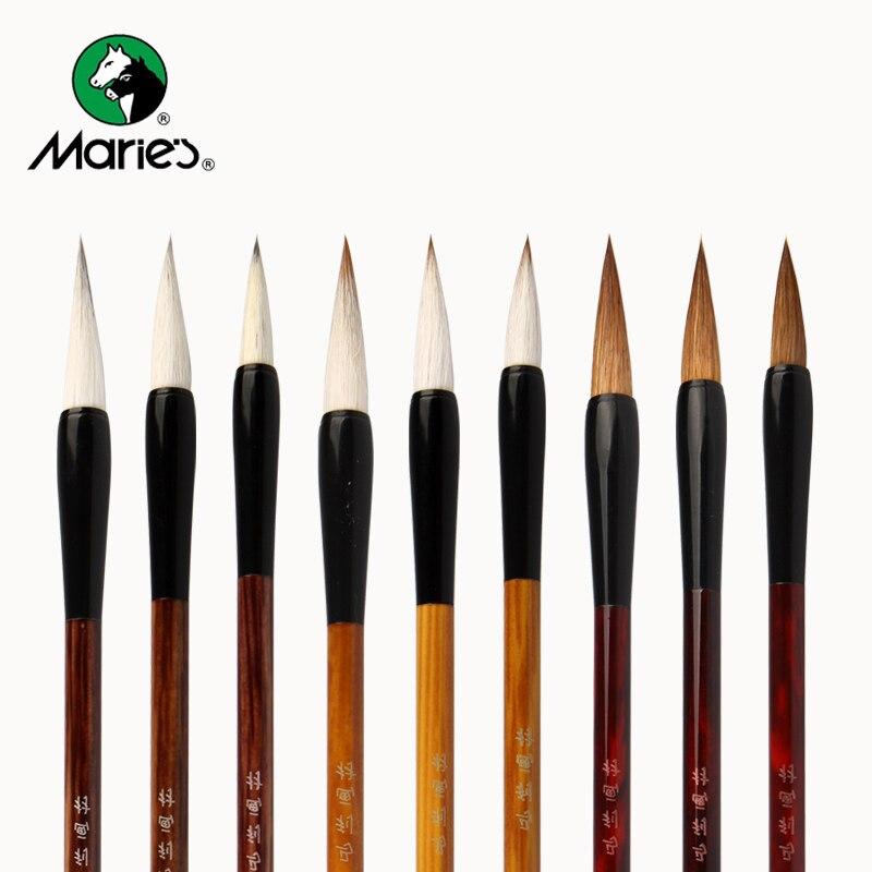 3 pcs chines caligrafia escova caneta de cabelo cabra bambu escrita escovas pintura a oleo escova