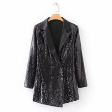 rompers womens jumpsuit sequin black playsuits notched collar long sleeve button