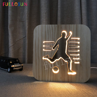 Desk Lamp LED Soccer Wooden Carving Light Lamp Decorative Lamps for Living Room Support Droshipping
