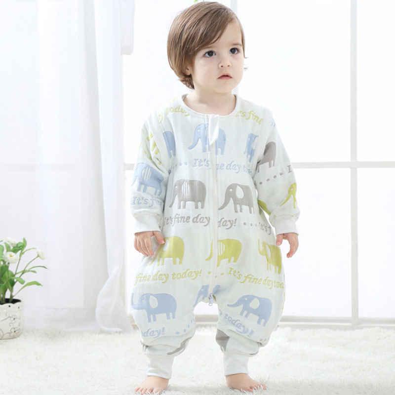 Bông Ấm Áp Cho Bé 0-5Y Tuổi Tập Đi Trẻ Em Sleepsack Thoải Mái Gai Chăn Bộ Pyjama Sơ Sinh Đầm Bọc Jumpsuit