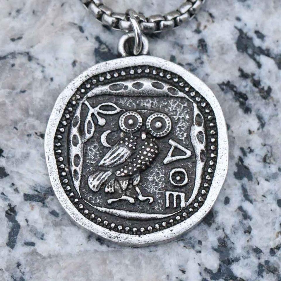 collier homme grecque