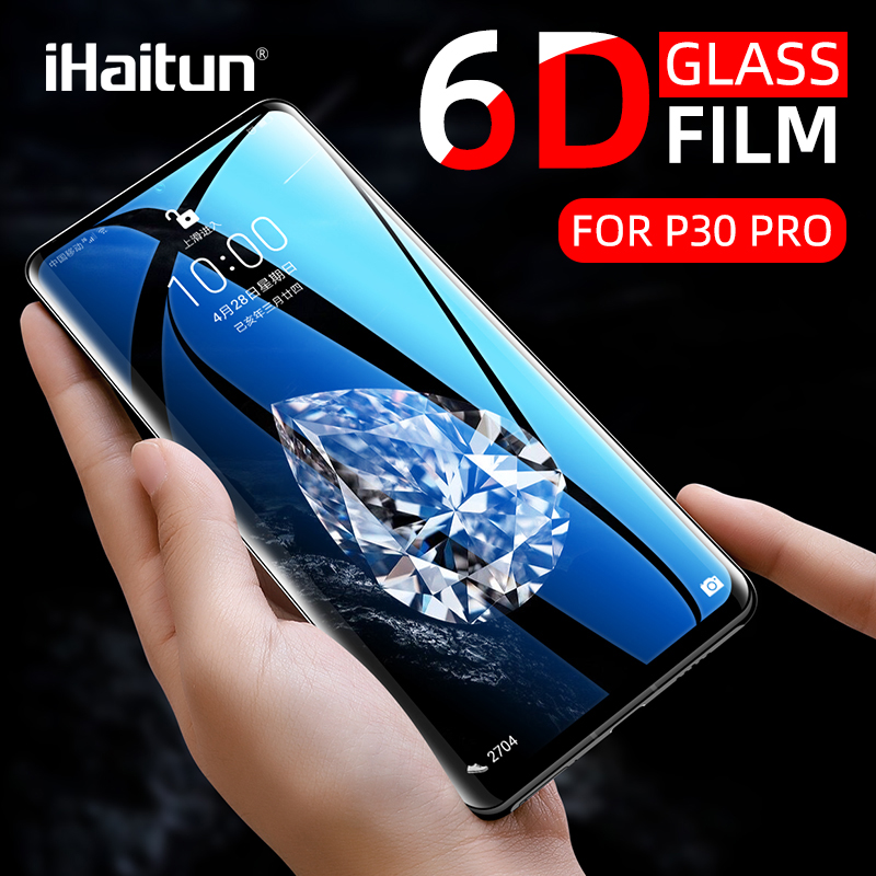 IHaitun Luxury 6D Glass For Huawei P40 Pro P30 Mate 30 20 Tempered Glass Screen Protector For Huawei P30 Pro P20 Full Cover Film