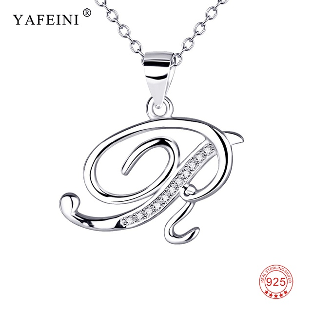 925 sterling silver jewelry a pendants necklaces letter r charming 925 sterling silver jewelry a pendants necklaces letter r charming silver a z initial letters name alphabet thecheapjerseys Gallery