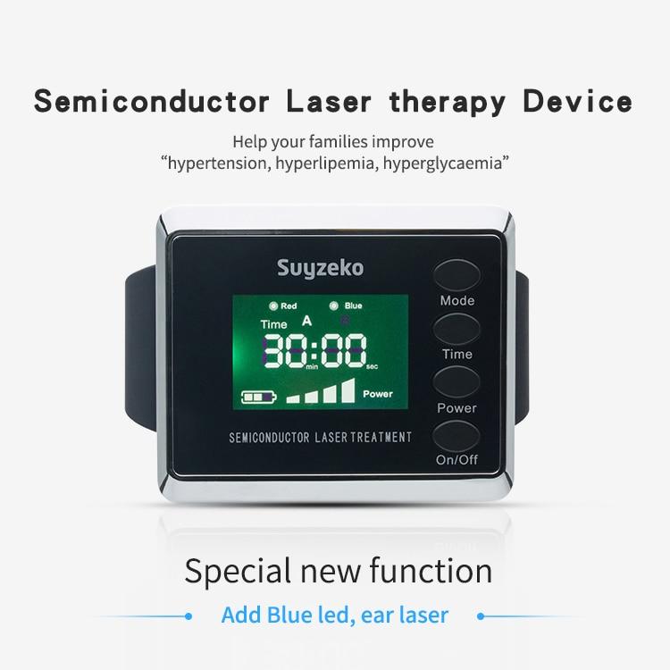 Suyzeko Electro acupuncture LLLT allergic rhinitis treatment 650nm and 450nm led laser watch