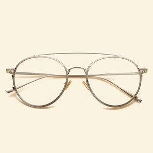 Image 4 - NOSSA ブランドビッグフレームレトロ金属メガネフレーム男性女性近視光学フレームクリアレンズカジュアル眼鏡学生眼鏡