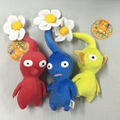 Игрушка Pikmin для игр, плюшевая кукла, игрушка для домашнего декора, плюшевая игрушка, красные, синие, желтые цветы, 7