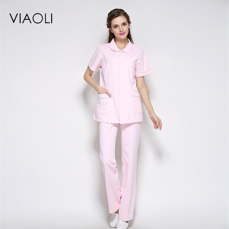 Novelty & Special Use Official Website 2018nurse Service Party Doll Collar Split Suit Summer White Coat Drugstore Front Desk Medical Beauty Salon Medical Work Uniform