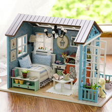 Doll House DIY Miniature Dollhouse Model Wooden Toy Furnitures Handmade house for dolls Toys Romantic Birthday Gift For Children diy miniature doll house casa toys dollhouse wooden model with 3d led furnitures house for dolls handmade toys for children e