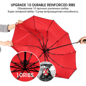 Image 4 - Windproof Double Automatic Folding Umbrella Female Male Ten Bone Car Luxury Large Business Umbrellas Men Rain Women Gift Parasol