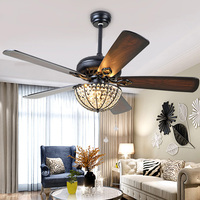 Modern Ceiling Fans Led Light with 5 Wood Blades for Living Room Bedroom Dinning Room Remote Control 3 Speed