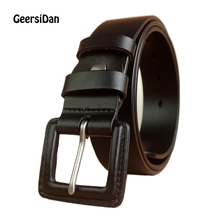 New Fashion black Personality buckle men belt vintage cowboys 100% genuine leather designer belt for men high quality ceintures  2017 new vintage designer 100
