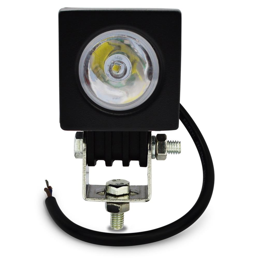 1 개 2 ''LED 10 와트 작업 램프 800LM 스팟 홍수 빔 작업 - 자동차 조명 - 사진 4
