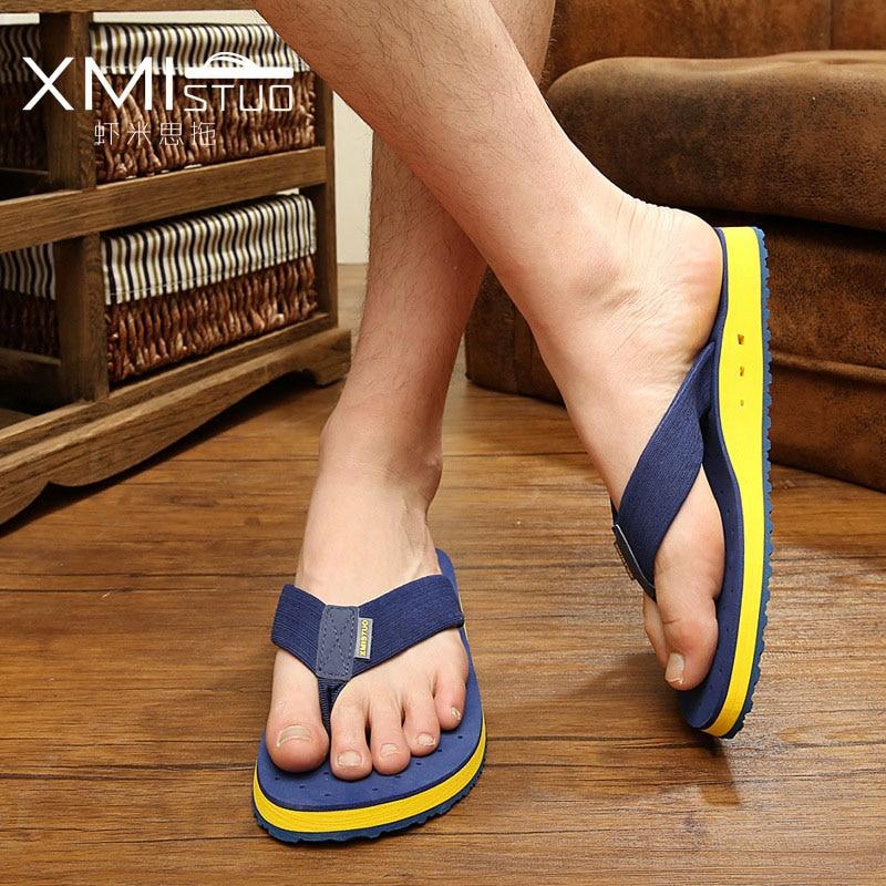 2017 Summer Men Flip Flops Beach Shoes Sandals Men Slippers Sandal Flats Shoes Mens Flip Flop Sandals Summer Breathable Shoes стоимость