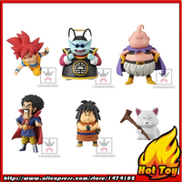 100% Original Banpresto WCF Complete Collection Figure Vol.2 Set 6 Pcs Goku Kai Buu Satan Yajirobe Karin Dragon Ball SUPER