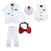 Formal child suits for boys European and American style black/white child suit boys wedding suit for Flower boy Birthday Clothes