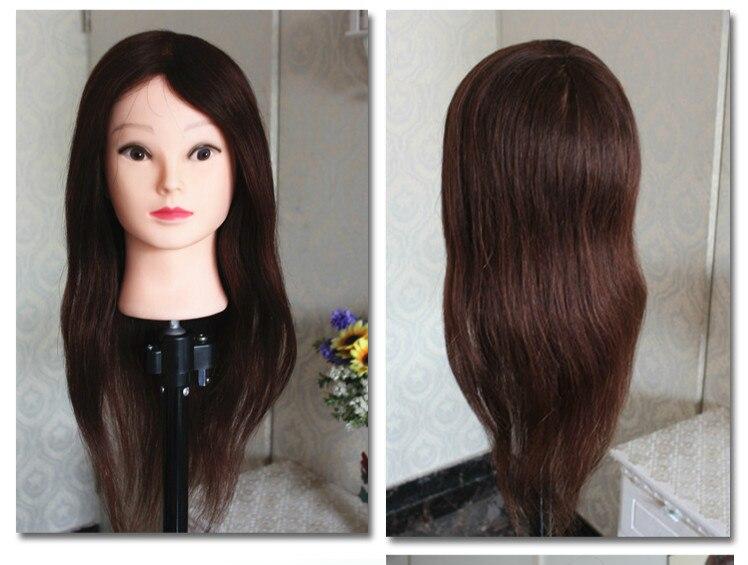 Doll Head Hair Styling: 20inch 90% Human Hair Mannequin Head Manikin Hairdressing
