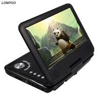 Lonpoo 9 дюймов портативный dvd плеер с поворотный экран функция игры Поддержка CD-плеер MP3/MP4 DVD плеер для главная Прокат