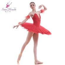 Новинка! красного цвета для девочек, балетное платье-пачка женская спортивная обувь на платформе танцевальная обувь балетные костюмы-пачки для балерины, блин платья-пачки Детская Bll0050