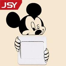 1 PC Light Switch Sticker Mickey Mouse Wall Decoration Beauty Kids Room Poster Jiangs Yu