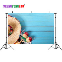 SHENGYONGBAO Art Cloth Custom Photography Backdrops Prop Board  wall sea theme Photo Studio Background S17924-09