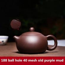 255mL ZiSha XiShi Teapot Yixing original mine purple sand pot famous pure handmade large capacity Chinese Kung Fu tea set gift