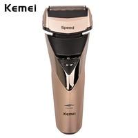 방수 Kemei 전기 면도기 남성 면도기 충전식 왕복 트리플 블레이드 수염 트리머 면도기 barbeador