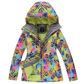 630517a9b124b GSOU SNOW 2016 женский лыжный костюм Высококачественная куртка для  сноубординга уплотненный теплый водонепроницаемый ветрозащитный