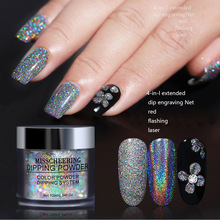 10ML Glitter Dipping Powder Nails Infiltration Powders For Art Gradient French Manicure UV Gel Pigment
