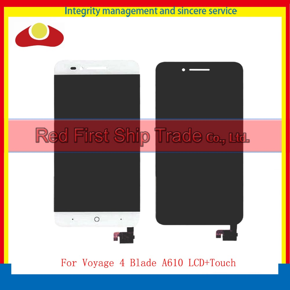 5.0 For ZTE Voyage 4 Blade A610 Full Lcd Display Touch Screen Digitizer Assembly Complete Black White + Tracking Code for zte blade a610 lcd display touch screen 100