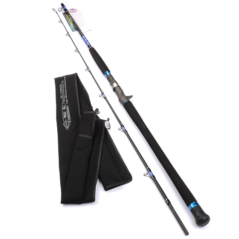1.98m/6.5' carbon fibre BOAT CASTING rod FUJI guide and reel seat MH Power INSHORE saltwater rod Trolling fishing rod 1 65m 1 8m high carbon jigging rod 150 250g boat trolling fishing rod big game rods full metal reel seat sic guides eva handle
