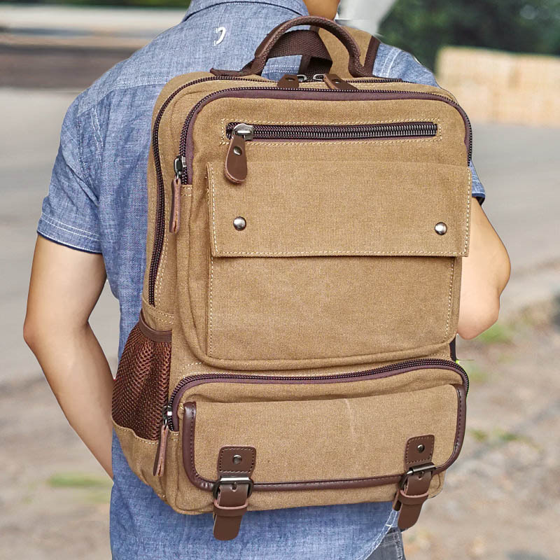 backpack for men canvas backpack large capacity Travel Rucksack Man  15 inch Laptop Backpack Male Travel Notebook shoulder bags large 14 15 inch notebook backpack men s travel backpack waterproof nylon school bags for teenagers casual shoulder male bag