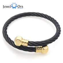 Unisex Punk Style Screw Nut Bracelets Bangles 316L Stainless Steel For Men And Women Fashion Charm Bracelet (JewelOra BA101576)(China)