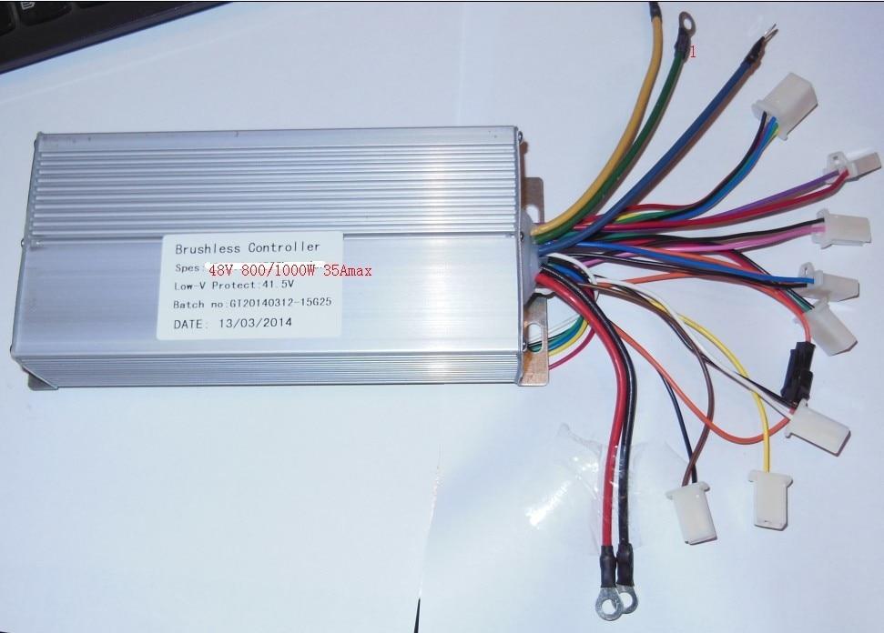 GREENTIME 15 Mosfets 48V 800W/1000W Dual mode Sensor/Sensorless Brushless DC Motor Controller