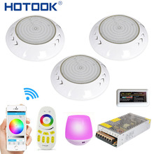 HOTOOK Underwater Lights Wifi LED Pool Light RGB 2.4G Kit Resin Filled Foco PAR56 Piscina Lamp With Timer Dimmer App Controlled(China)