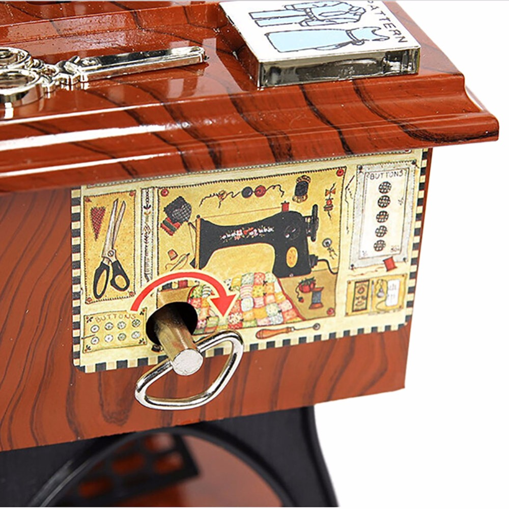 Music box musical vintage look retro classical desk decor for Retro house music