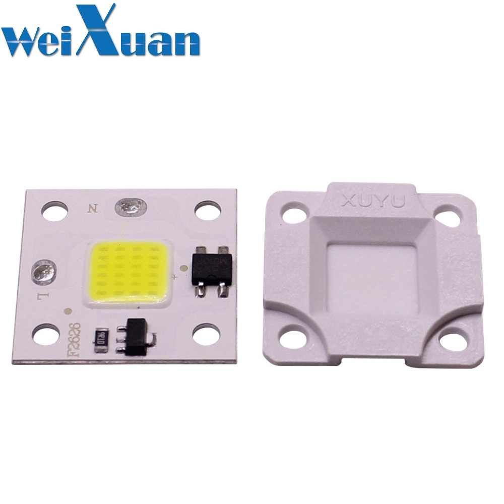DIY Free Driver Smart IC LED Flip chip 10W AC 220V COB Bright Light Source Patch Lamp Bead White Warm White for Floodlight