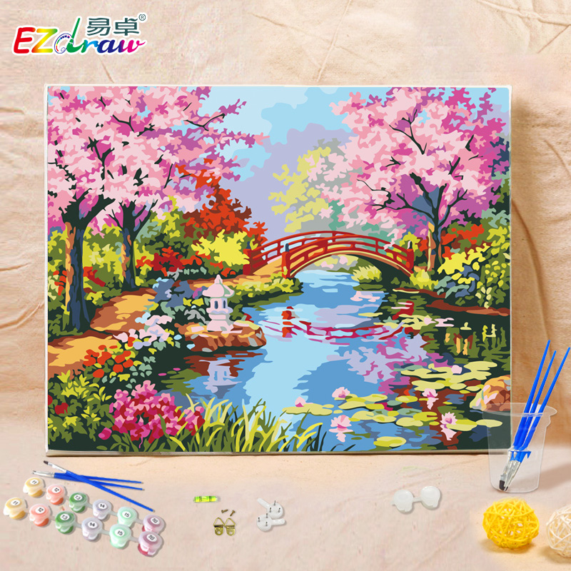 Paint By Number Oil Canvas Painting Kits Unique Gift Ms8276 Southern Spring Color Home Decor Wall Art Picture