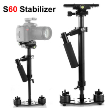 Photo Aluminum Alloy Handheld 60cm Stabilizer Photography Shooting DSLR Steadycam for Canon Nikon Sony SLR Camcorder S60