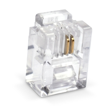 цена на 100Pcs RJ11 6P2C Telephone Internet Modular Plug Jack RJ11 Connector 2pin Telephone crystal head