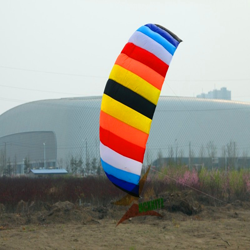 free shipping high quality 2.6m power soft kite with control bar line kitesurf albatross kite weifang kite parafoil hcxkite кошелек albatross