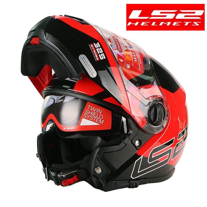 LS2 FF325 стробоскоп флип-ап мото rcycle шлем человек модульный гоночный шлем емкость ls2 Шлем КАСКО мото КАСКО para moto DOT шлем мото