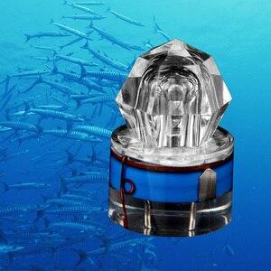Image 5 - Flutuador de pesca led float luz diamante forma pesca de água profunda lâmpada led atraindo luzes peixe sinal noite acessórios pesca