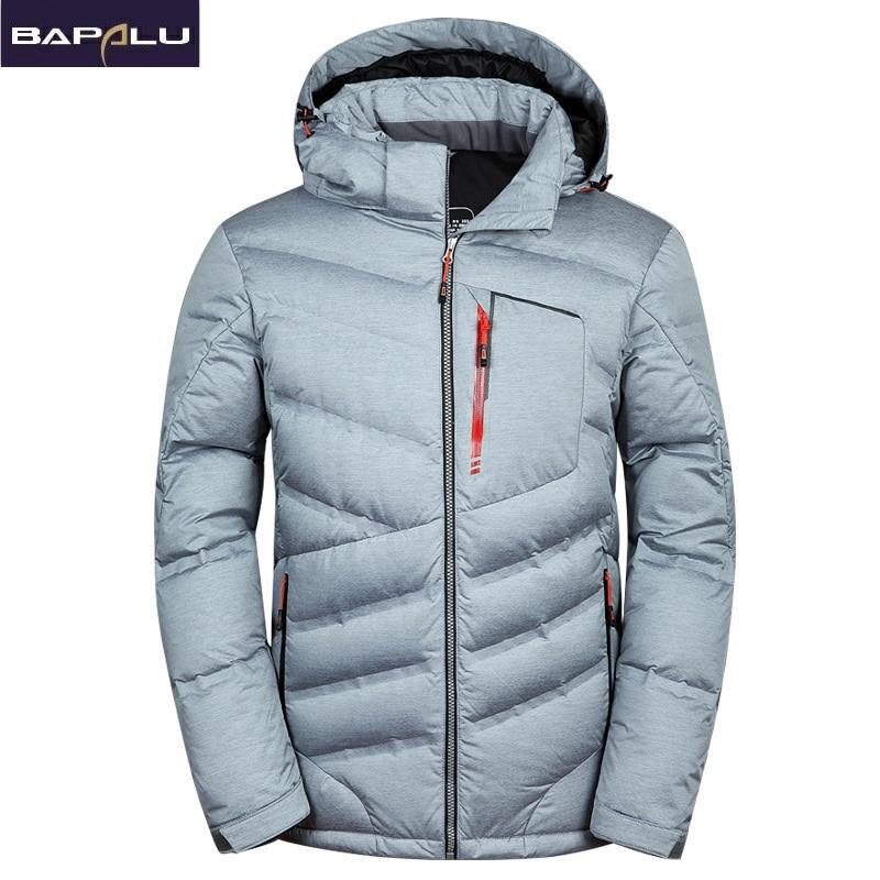 2018 New fashion Warm White Duck Winter Coat Hooded Mens Waterproof windbreak Male Casual hoodie Warm Down Jacket Coat-in Down Jackets from Men's Clothing    3