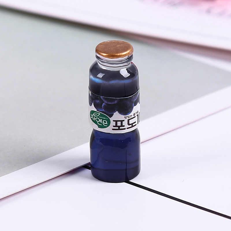 8PCS Slime Pendenti E Ciondoli Bere Succo di Frutta Bottiglia di Resina Plastilina Slime Accessori Perline Lizun Che Effettuano Cessioni Per FAI DA TE Scrapbooking Artigianato