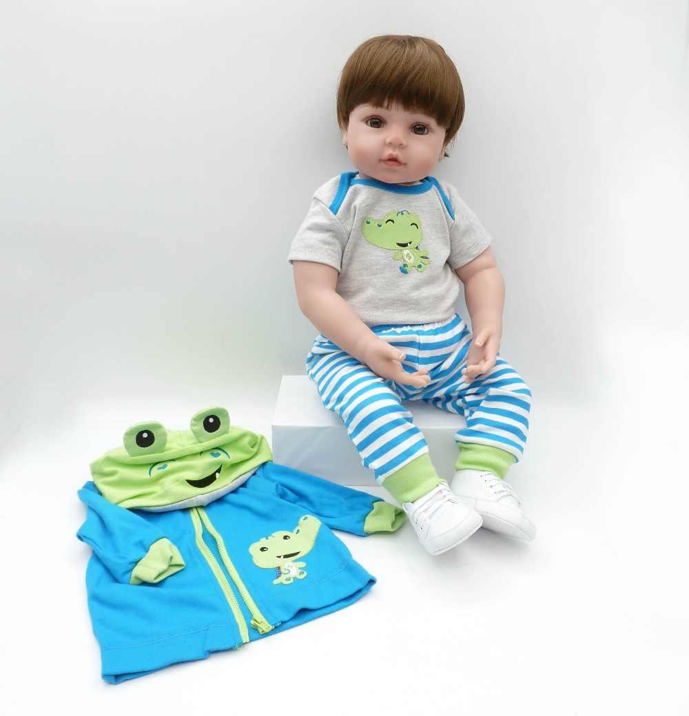 47 cm silicone reborn bebê bebês brinquedos reborn lifelike bonecas miúdo do bebê boneca brinquedos para crianças presentes