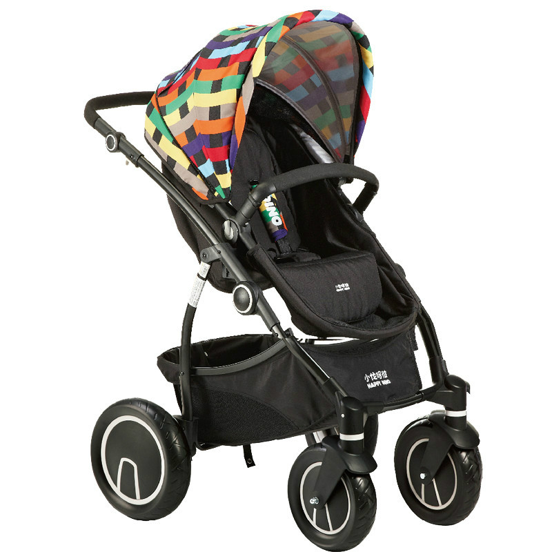0 -3 years old The new high-profile four-wheeled shock cart has two-way ride can be lying baby carriage leslea newman heather has two mummies