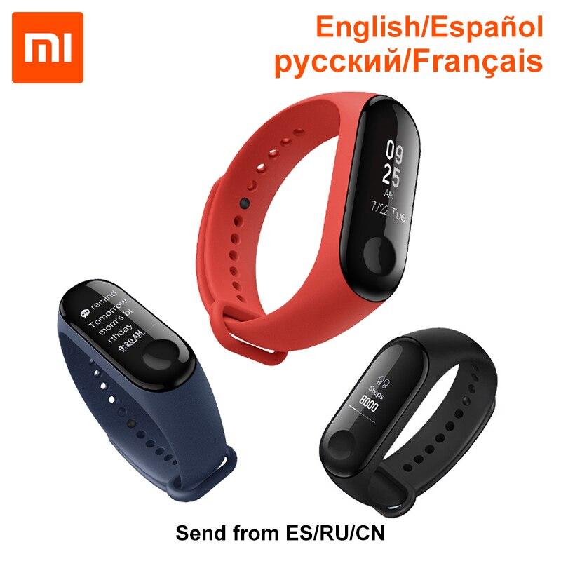 Amazfit Xiao mi mi fascia 3 Bluetooth di Sport intelligente Braccialetto Messaggio Chiamante Batteria 20-giorni in Standby 50 M impermeabile tempo di Visualizzazione